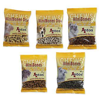 Antos Mini knogler blandet Box - 10 X 5 varianter 200g (pakke med 50)