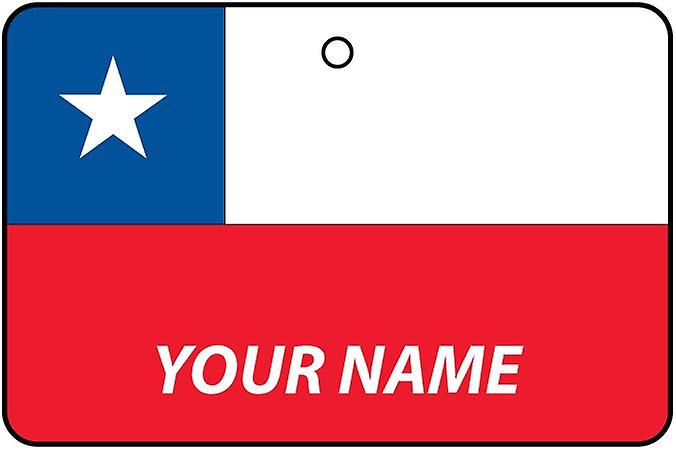 Chile Flag Personalised Car Air Freshener