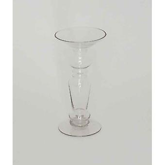 25cm Clear Glass Candlestick Decoration