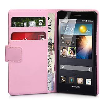 YouSave Huawei Ascend P6 LeatherEffect Flip Case Baby Pink