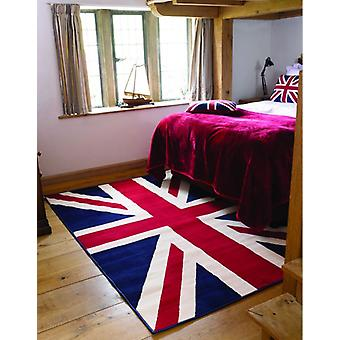 Union Jack Red  White & Blue Retro Rug Majorca