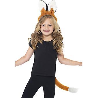 Fox Kit med öron på pannband och svans