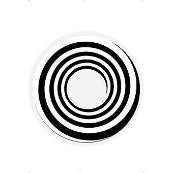 Черный белый спираль Хэллоуин контактные линзы линзы 1 день