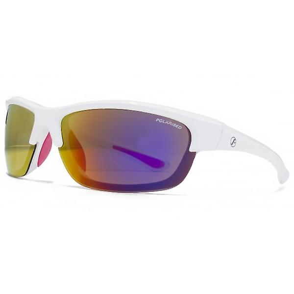 Freedom Polarised Cutaway Lens Wrap Sunglasses In White