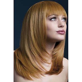 """Smiffy's Fever Tanja  Wig Auburn, Feathered  With Fringe (19"""", 48cm)"""