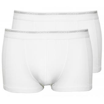 Jockey 2-Pack Modern Classic Boxer Trunks, White