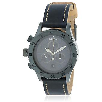Nixon Chronograph Leather Ladies Watch A5041930