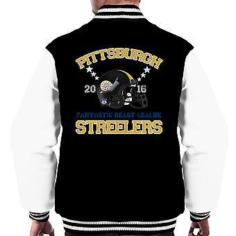Fabeldyr League Pittsburgh Streelers hjelm menn Varsity jakke