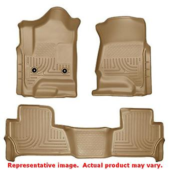 Husky Liners 99203 Tan WeatherBeater Front & 2nd Seat F FITS:CHEVROLET 2015 - 2