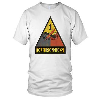 US Army Old Ironsides 1st Armored Division Grunge Mens T Shirt