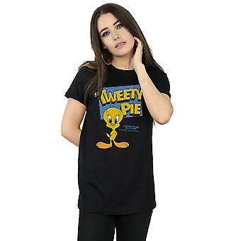 Looney Tunes Women's Classic Tweety Pie Boyfriend Fit T-Shirt