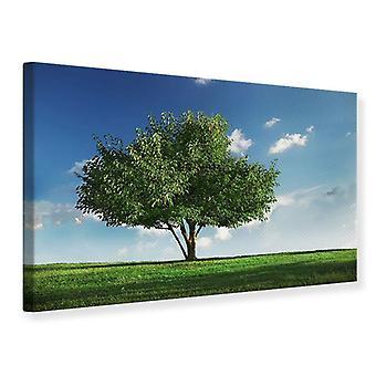 Lærred Print træ i grøn