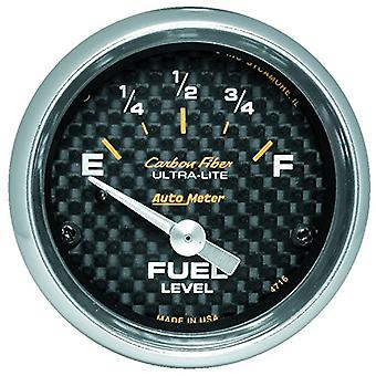 Auto Meter 4716 Carbon Fiber Electric Fuel Level Gauge
