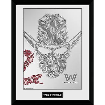 Westworld ansikte inramat Collector Print 40x30cm