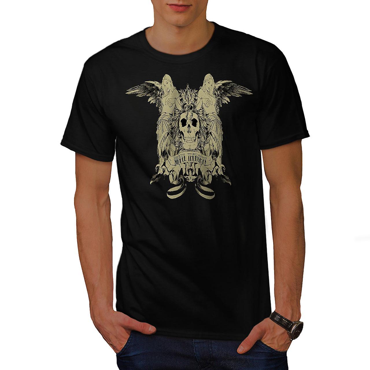Sinful Thought Sexy Skull Men Black T-shirt | Wellcoda