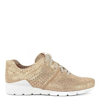 UGG Tye Stardust Gold Leather Trainer