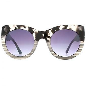 Guess Oversize Cateye Sunglasses In Black Marbled