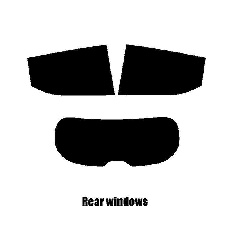 Pre cut window tint - Nissan Micra 5-door - 2017 and newer - Rear windows