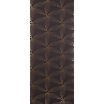 Perfection Brown Wallpaper Roll - Flat Patterned Estrella Design - 5280714