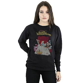 Disney Women's Alice In Wonderland Retro Poster Sweatshirt