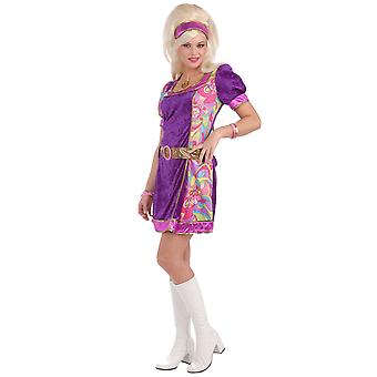Funky Time 1960s Go Go Mod Girl Retro Dancing Disco Women Costume