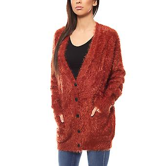 Lee knitted ladies Cardigan red L52LRMMU