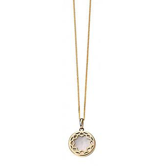 Elements Gold Mother of Pearl Inlay Pendant - Gold/White