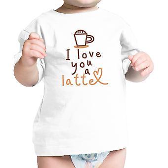 Liebe ein Latte Baby Geschenk T-Shirt weiß