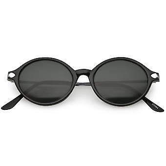 7a33099ddbf7 Ægte Vintage tynde arme Metal detaljer glas linse Oval solbriller 48mm