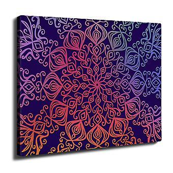 Wellcoda Ornament Wall Art Canvas 50cm x 30cm | Wellcoda