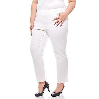 Trouser of jeans women's 7/8 large sizes white CLASS INTERNATIONAL