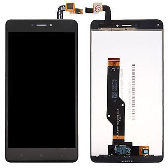 Dla Xiaomi Redmi Uwaga 4 X naprawić wyświetlacz do całego urządzenia dotykowym LCD czarny