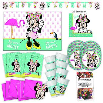 Disney Minni MausTropical partij partij vak 57 - teilig Minnieparty party pakket
