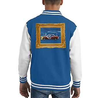BMW Art Car Calder Gold Frame Kid's Varsity Jacket