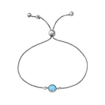 Round - 925 Sterling Silver Chain Bracelets - W37473x