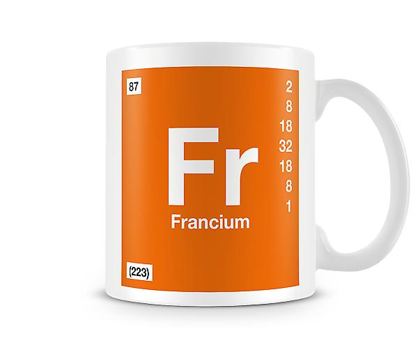 Element Symbol 087 Fr - Francium Printed Mug