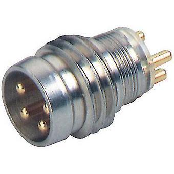 Hirschmann 933 393-001 ELST 4408 RV KM Device Connector For M8-sensors Metal, Silver (metallic)