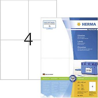 Herma 4676 Labels 105 x 148 mm Paper White