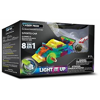 Laser Pegs-8 in 1 Sports Car + 5 years