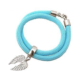 -Pulsera - alas de pulsera - plata 925 - - azul