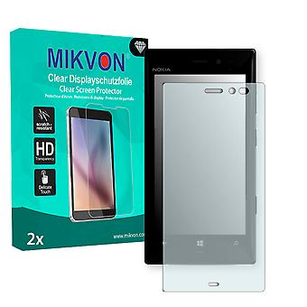 Nokia Lumia 928 Screen Protector - Mikvon Clear (Retail Package with accessories) (intentionally smaller than the display due to its curved surface)