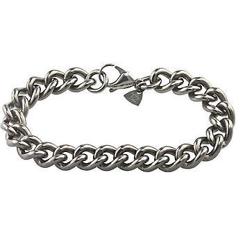 Ti2 Titan Chunky Curb Armband - Silver