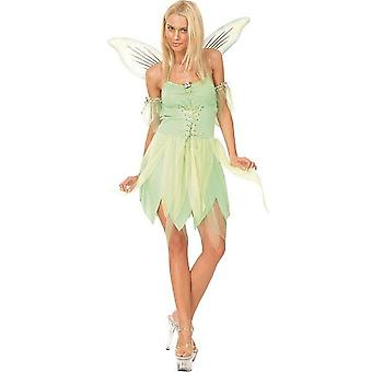 Bnov Green Fairy/Tinkerbell Costume With Wings