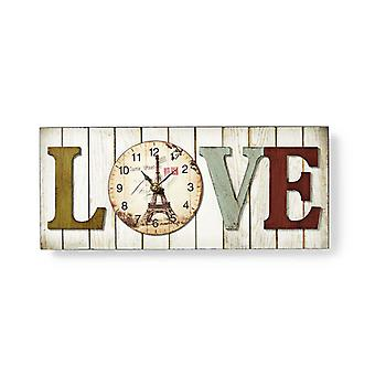 Nedis CLWA001WDL40 Houtstijl Wandklok In Lijst Model 'love'