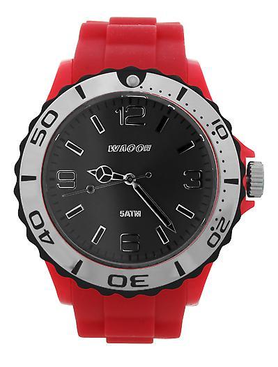 Waooh - STM42 Watch Dial Black Bezel Black & Silver