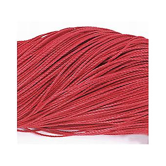 1 x Red Waxed Polyester 10m x 1mm Thong Cord Continuous Length Y06230