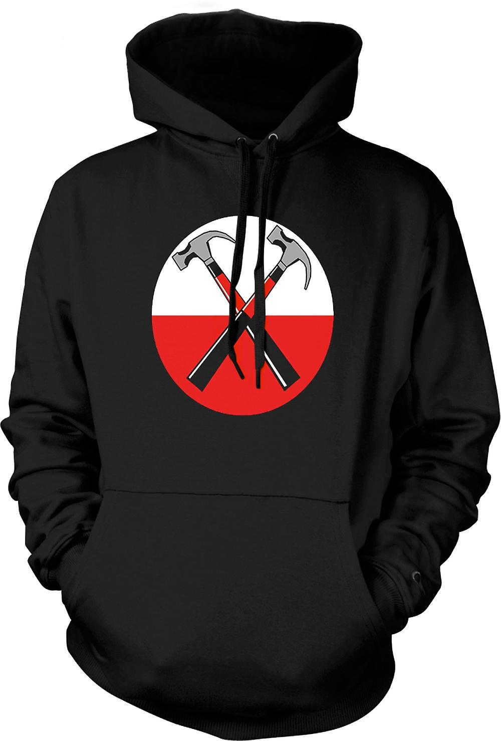 Mens Hoodie - Pink Floyd - The Wall Doppia Hammer