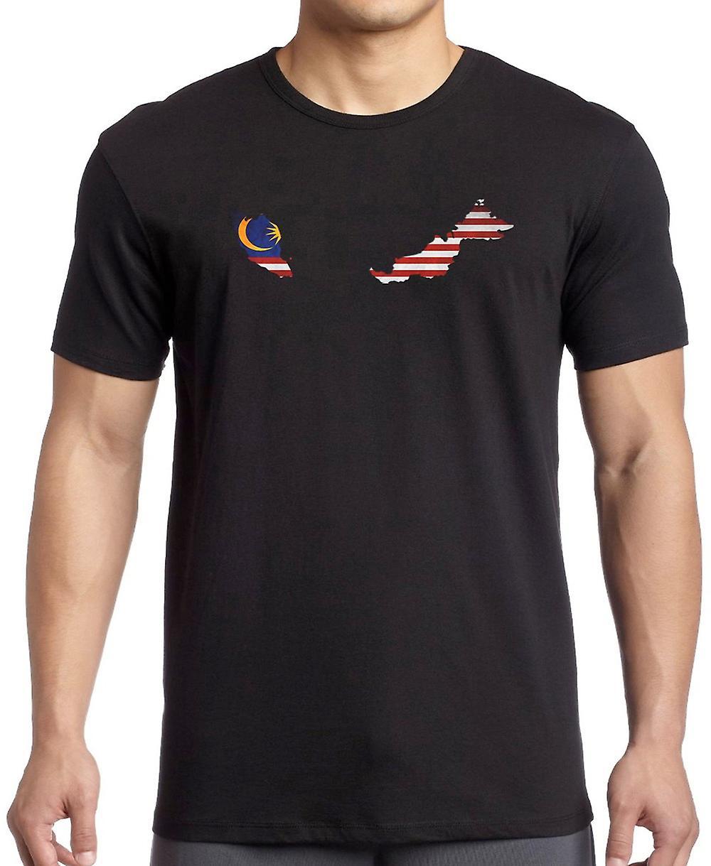 Malasia bandera mapa T Shirt - 4xl