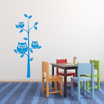 Wall art sticker Owls in a tree