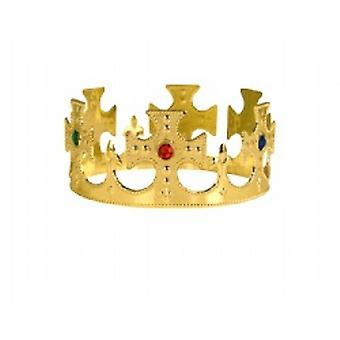 Plastik króla, królowej balu Jeweled King's Crown Gold(1)